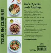 Bols et petits plats healthy - 4ème de couverture - Format classique