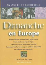 Dimanches en europe - francais - Couverture - Format classique
