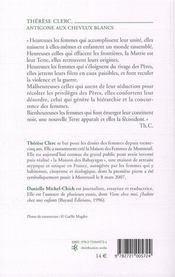 Thérèse Clerc, une antigone aux cheveux blancs - 4ème de couverture - Format classique