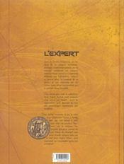 L'expert t.2 ; l'étoile du chaman - 4ème de couverture - Format classique