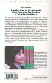 L'esthétique de la canneraie dans le roman des Antilles et des Mascareignes - 4ème de couverture - Format classique