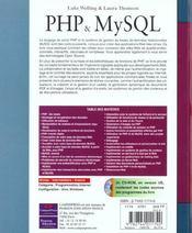 Php Et My Sql - 4ème de couverture - Format classique