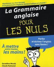 La grammaire anglaise pour les nuls - Intérieur - Format classique