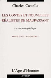 Les Recits Et Nouvelles Realistes De Maupassant - Couverture - Format classique