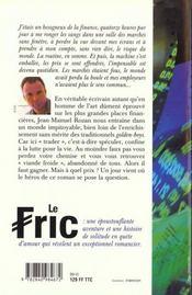 Fric - 4ème de couverture - Format classique