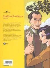 Agatha Christie t.9 ; l'affaire Protheroe - 4ème de couverture - Format classique