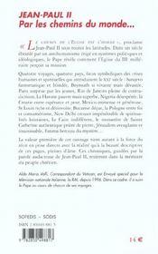 Jean-Paul Ii - Par Les Chemins Du Monde... - 4ème de couverture - Format classique