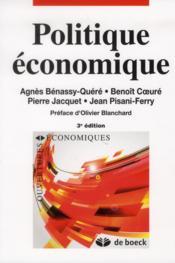 Politique économique - Couverture - Format classique