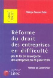 Reforme Du Droit Des Entreprises En Difficulte - Couverture - Format classique
