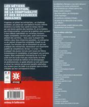 Les métiers de la gestion, de la comptabilité et des ressources humaines - 4ème de couverture - Format classique