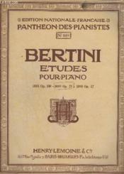 Etudes Pour Piano - N° 1089 Op. 29. - Couverture - Format classique