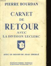 Carnet De Retour Avec La Division Leclerc - Couverture - Format classique