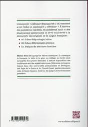 L etymologie en fiches - 4ème de couverture - Format classique