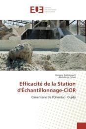 Efficacite de la station d'echantillonnage-cior - cimenterie de l'oriental - oujda - Couverture - Format classique