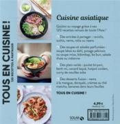 Cuisine asiatique - 4ème de couverture - Format classique
