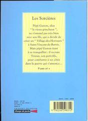 Les sorcieres - 4ème de couverture - Format classique