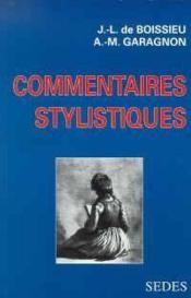 Commentaires stylistiques - Couverture - Format classique