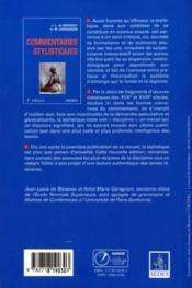 Commentaires stylistiques - 4ème de couverture - Format classique