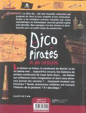 Le dico des pirates et des corsaires - 4ème de couverture - Format classique