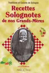 Recettes Solognotes De Nos Grands Meres - Couverture - Format classique