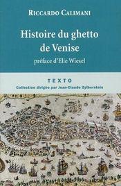 Histoire du ghetto de Venise - Intérieur - Format classique
