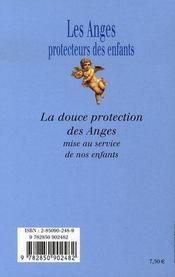 Les anges protecteurs des enfants - 4ème de couverture - Format classique