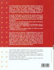 Lexique du cadre institutionnel des a.p.s - 4ème de couverture - Format classique