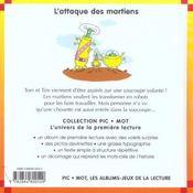 Attaque des martiens (l') - 4ème de couverture - Format classique