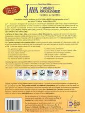 Comment Programmer En Java 4eme Edition - 4ème de couverture - Format classique