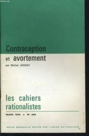 LES CAHIERS RATIONALISTES n°290 : Contraception et avortement - Couverture - Format classique