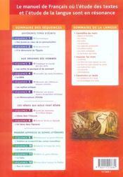 FLEURS D'ENCRE ; français ; 6ème ; livre de l'élève - 4ème de couverture - Format classique