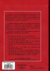 Code Du Tourisme (Edition 2008 Commentee) - 4ème de couverture - Format classique