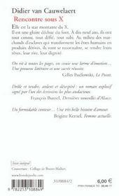 Rencontres sous X de Didier Van Cauwelaert - Poche - Livre - Decitre