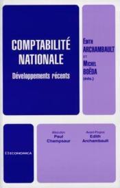 Comptabilite Nationale Developpements Recents - Couverture - Format classique