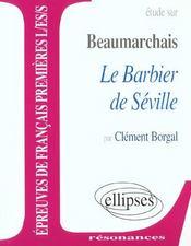 Étude sur Beaumarchais ; le barbier de Séville - Intérieur - Format classique