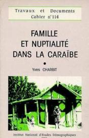 Famille Et Nuptialite Dans Les Caraibes - Couverture - Format classique