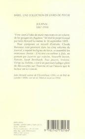 Journal 1887-1910 - 4ème de couverture - Format classique