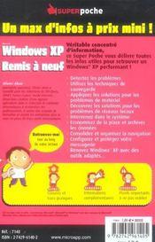 Windows xp remis a neuf - 4ème de couverture - Format classique