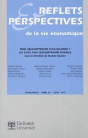 Reflets Et Perspectives De La Vie Economiques 2002/1 - Couverture - Format classique