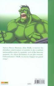 Hulk t.1 ; l'experience interdite - 4ème de couverture - Format classique