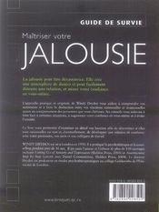 Maîtriser votre jalousie - 4ème de couverture - Format classique