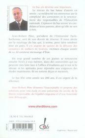 Stop A L'Arnaque Du Bac - 4ème de couverture - Format classique