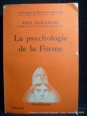 La psychologie de la forme - Couverture - Format classique