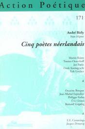 Revue Action Poetique N.171 ; Cinq Poètes Néerlandais - Intérieur - Format classique
