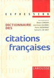 Dictionnaire Des Citations Francaises - Intérieur - Format classique