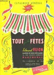 Catalogue General 1962 - Tout Pour Les Fetes - Couverture - Format classique