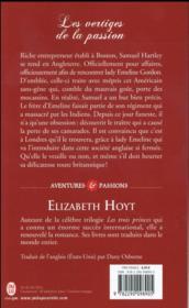La légende des quatre soldats t.1 ; les vertiges de la passion - 4ème de couverture - Format classique