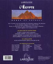Aimer L'Egypte - 250 Photos Et Cartes - 4ème de couverture - Format classique