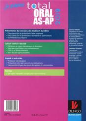 Je prépare ; total oral AS-AP ; concours aide-soignant et auxiliaire de puériculture (édition 2019) - 4ème de couverture - Format classique