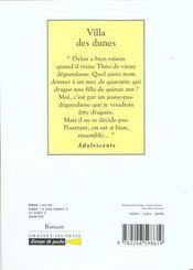 Villa des dunes - 4ème de couverture - Format classique